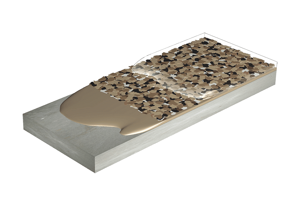 Flexmar 2-coat color flake system