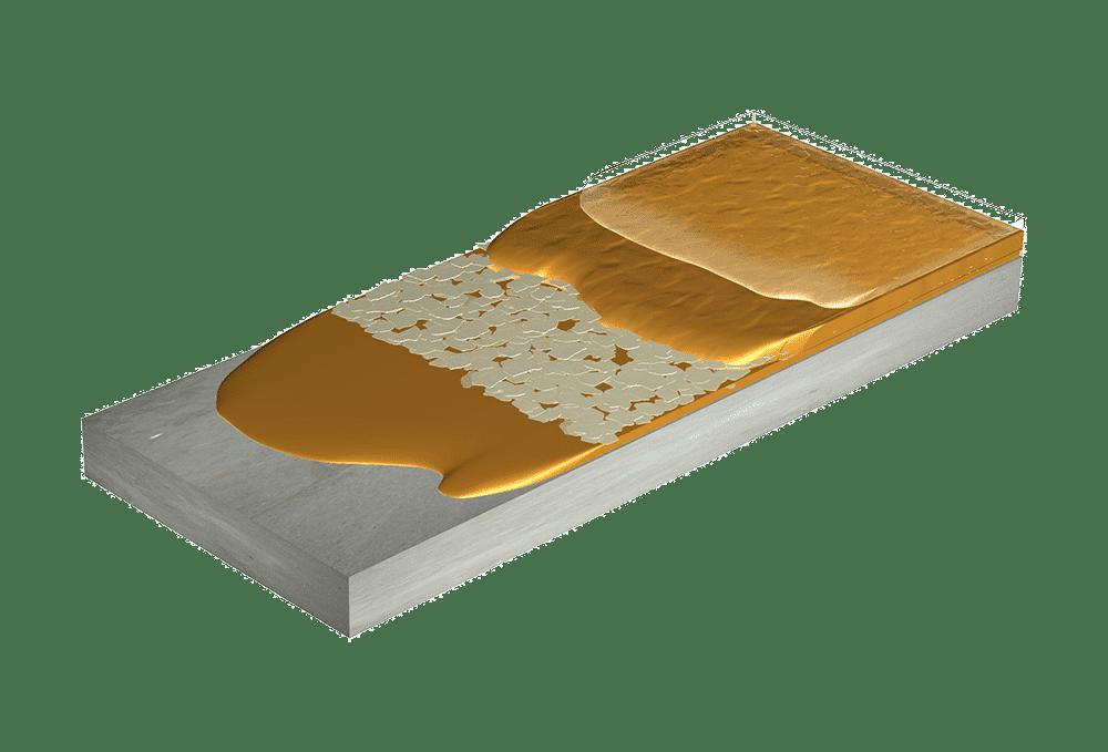 Flexmar Reverse Color Flake Coating System