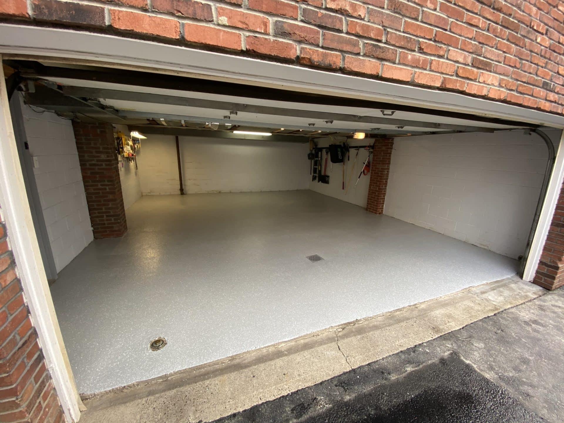 Titan garage floor after